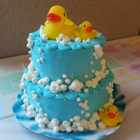 Rubber Ducky And Bubbles Cake Rubber Ducky