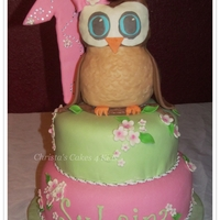 Look Whoo's One!   Owl made of RKT. 1 is not edible. MMF covering on all.