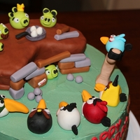 Angry Birds made this for my son's 6th birthday :)