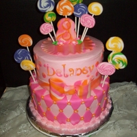 Lollipop Cake fondant lollipops