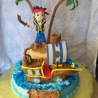 Jake And The Neverland Pirates Cake Fondant Jake Rkt Boat So Much Fun Jake and the Neverland Pirates cake fondant Jake RKT boat SO MUCH FUN!!