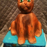 "Warriors Cat Cake Cake for a fan of the ""Warriors"" book series Cat's body is three 6-in rounds... his head and limbs are RKTfrench vanilla..."
