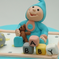Baby Adam Shower Cake