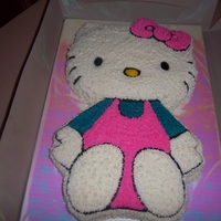 Hello Kitty Cake My first Hello Kitty cake.