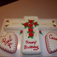 Cross Birthday Cake