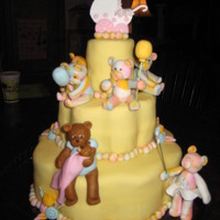 "Bears Adoption Cake This is the cake I made for my sister's adoption of her baby girl!!! Inspired by Maisie Parrish ""Fun and Original Character Cakes..."