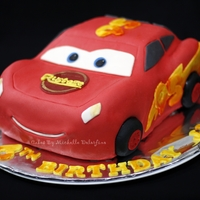 Lightning Mcqueen   Made this for my son's 6th birthday.