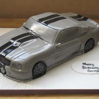 "Shelby Gt 500 13"" long Car made from Madeira sponge"