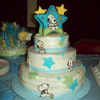 Baby Snoopy Shower Cake I did this cake for a friend's baby shower - it's red velvet filled and iced with cream cheese. I was still working out the...