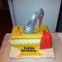 Louboutin Shoebox Cake With Edible Shoe *Louboutin shoebox cake, with edible shoe