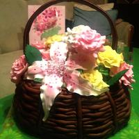 All Edible Basket And Flowers All edible basket and flowers ;)