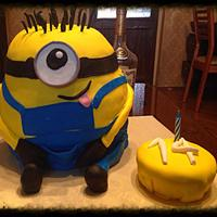 Minion Cake A For A 14 Year Olds Birthday Minion cake a for a 14 year old's birthday