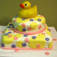 Rubber Ducky, You're The One! The duck is a toy- I wasn't ready to tackle making it out of gum paste yet! ;)