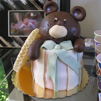 "Teddy In A Box The cake was a failed attempt to create one of the cakes featured in Debbie Brown's book ""Gorgeous and gruesome cakes for..."
