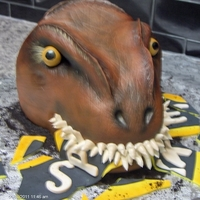 3D T-Rex Cake   All fondant.Airbrushed accents...Inspired by a cake from Sweet cake by Jenn on Flickr...