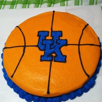 Uk Basketball Cake Iced in all BC