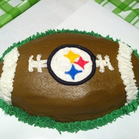 Steelers Football Cake Iced in all BC