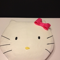 Hello Kitty I cut this out of a 1/4 sheet cake. It was my most simplest cake.