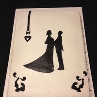 Silhouette Sheet Wedding Shower I got idea from someone on here of silhouettes and hubby wanted for a small office wedding shower at work. they wanted a 1/2 sheet but he...
