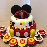Mickey Mouse the shoes are made with rct and covered with fondant