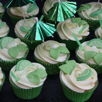 Mojito Cupcakes   Laced with lime and rum. Mmm, yummy!