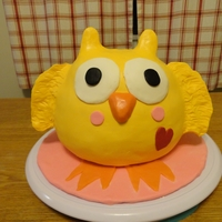 Owl Baby Shower Cake   French vanilla and Choc Fudge cake marbled and covered with modeling chocolate