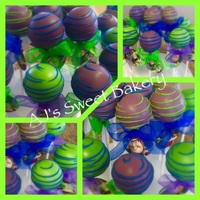 Buzz Light Year Cake Pops Buzz Light Year cake pops