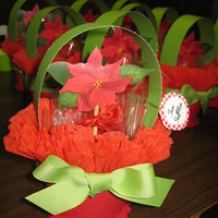 Poinsettia Cupcake Flower Pot poinsettia cupcake flower pot with chocolate cupcakes with creamcheese icing with oreos for the 'potting soil'! So adorable! Alot...