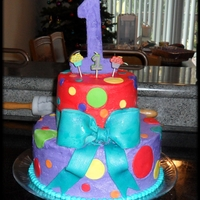 1St Birthday Cake Made this cake to match the birthday party decor