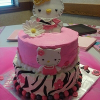 Hello Kitty   4 layer cake, vanilla buttercream, yellow cake