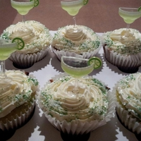 Margarita Cupcake   This cupcake is infused with tequila, triple sec, and margarita mix, as well as lime zest and a bit of lime juice
