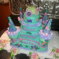 Princess Tiana's Castle   For my grand-daughters 3rd birthday...upon the princess' request!