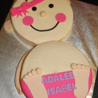 Cute Baby Body, Baby Shower Cake I love this style cake for a baby shower! All buttercream with fondant decorations!