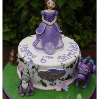 Sofia The First Made this cake with MMF all figurines are edible