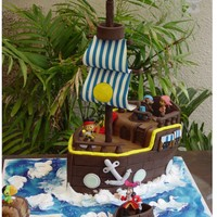 Jack And The Neverland Pirates Themed Cake Made With Mmf I Use Plastic Characters Everything Else Was Edible Jack and the Neverland Pirates themed cake made with MMF I use plastic characters everything else was edible.