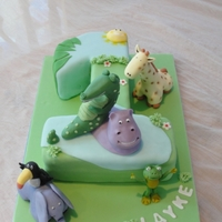 Jungle Buddies 1St Birthday A friend wanted a special 1st birthday cake to match the theme of his party - Jungle buddies. Each character was carefully and lovingly...