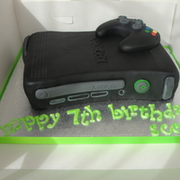 Xbox 360 I was asked to make this cake for a friend's little boy, who is a mad xbox'er, since making this I have received two more orders...