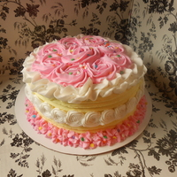 Rosette Buttercream Birthday Cake