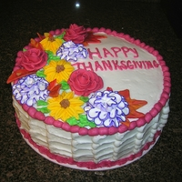 Floral Thanksgiving Cake