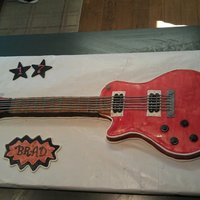 Guitar Cake Cake replica of my son's love for his 17th bday!