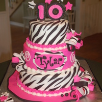 Zebra Hot Pink Birthday