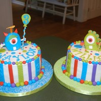 Monster Bash For Twins Snow board inspired by Creative Cakes by Christina!