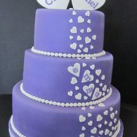 Lilac Wedding Cake With Chocolate Ganache Filling Lilac wedding cake with chocolate ganache filling