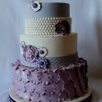 Purple Pearl & Petal Cake I entered this cake in my county fair for Fondant, Traditional cakes and got 1st place! Thanks for looking!