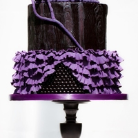 Black & Purple Gothic Wedding Cake Black & Purple Gothic Wedding Cake - made for andfeatured in Cake Central Magazine. I was shocked and honored to be asked to...