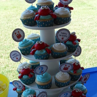 Crabby Cupcakes crabes made of fondant