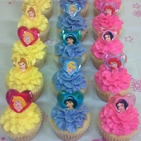 Disney Princess Cupcakes The toppers are rings.