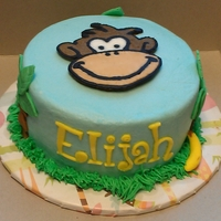 Little Monkey Smash Cake   Smash cake to go along with the Little Monkey cake. All buttercream. TFL!