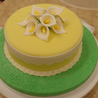 Final final cake for wilton fondant course