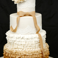 Cake Design Inspired By Wedding Dress Sugar Peony On Top Cake design inspired by wedding dress.. Sugar peony on top.